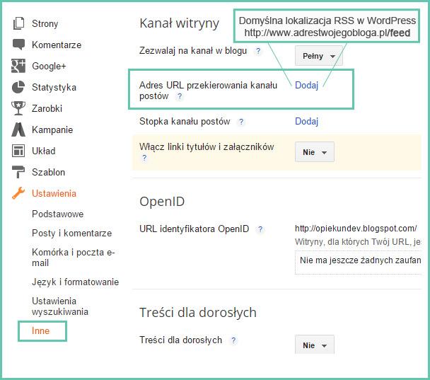 migracja blogger wordpress