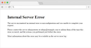Jak wyglada Internal Server Error w WordPressie