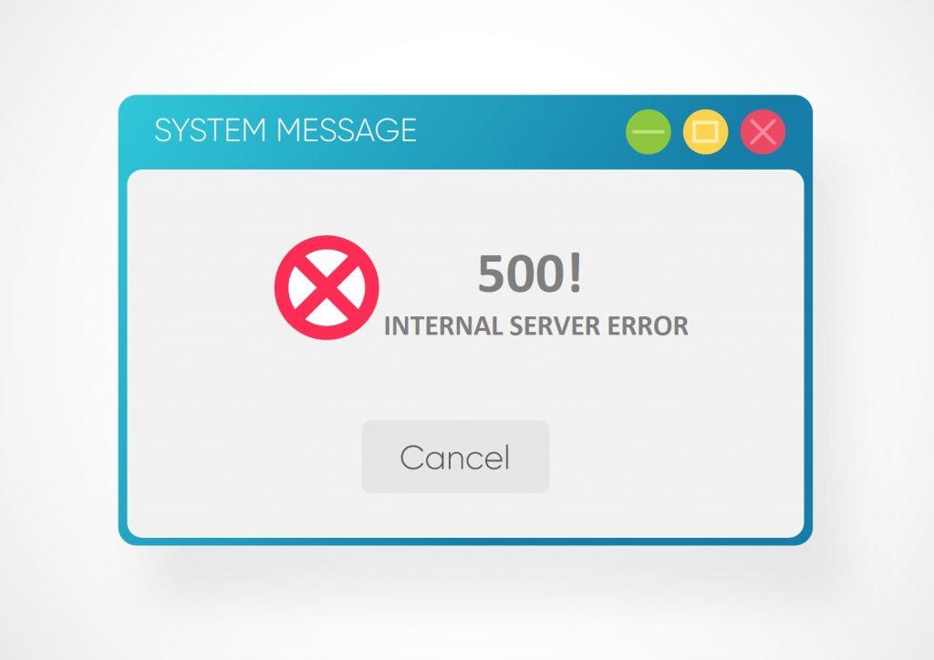 wordpress internal server error jak naprawić